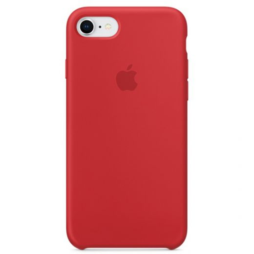 Чехол Apple Silicone Case Red (High copy) для iPhone SE/8