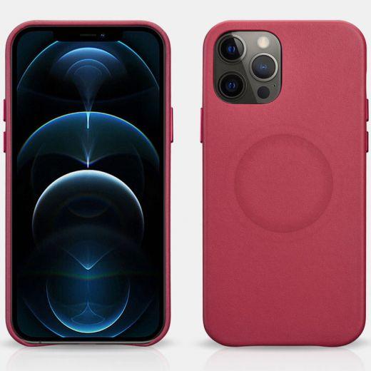 Кожаный чехол iCarer Original Red для iPhone 12 | 12 Pro