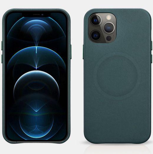 Кожаный чехол iCarer Original Green для iPhone 12 Pro Max