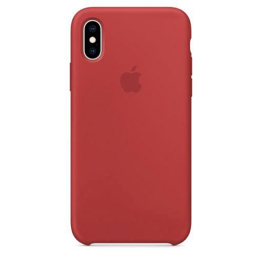 Чехол Apple Silicone Case Red (High copy) для iPhone XS