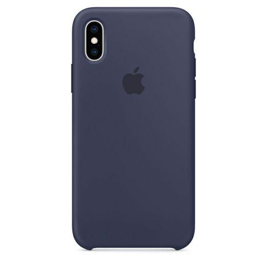 Чехол Apple Silicone Case Midnight Blue (High copy) для iPhone XS