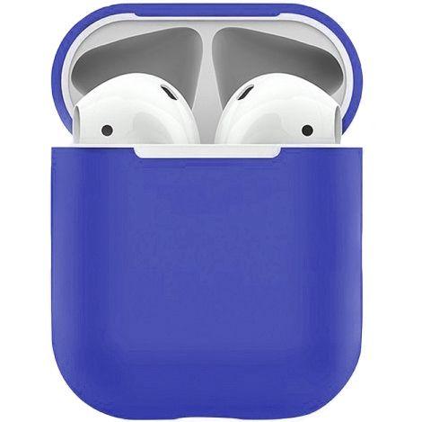 Чехол Ultra Thin Silicone Navy Blue для AirPods 1/2