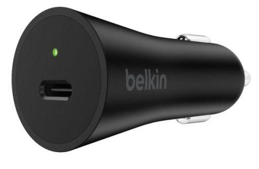 Автомобильное зарядное устройство Belkin Car Charger 27W Power Delivery Port USB-C 3.0A, black (F7U071BTBLK)