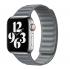 Ремешок Leather Link Magnetic Grey для Apple Watch 38mm | 40mm (S | M) OEM