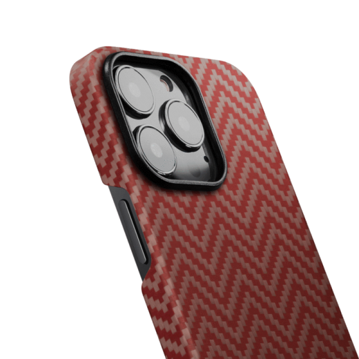 Карбоновый чехол Pitaka MagEZ Case 2 Red/Orange (Herringbone) для iPhone 13 Pro