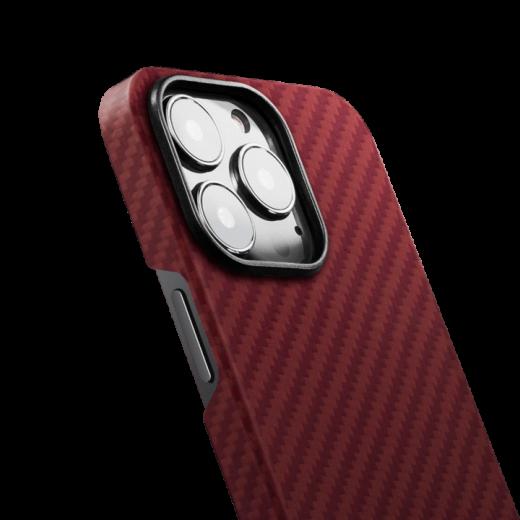 Карбоновый чехол Pitaka MagEZ Case 2 Red/Orange (Twill) для iPhone 13 Pro