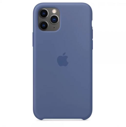 Чехол Apple Silicone Case Liner Blue (High copy) для iPhone 11