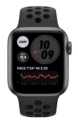 Apple Watch Nike SE GPS 40mm Space Gray Aluminum Case w. Anthracite/Black Nike Sport B. (MYYF2)