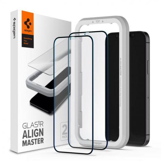 Защитное стекло Spigen Glas.tR AlignMaster 2 Pack Black (AGL01792) для iPhone 12 Pro Max