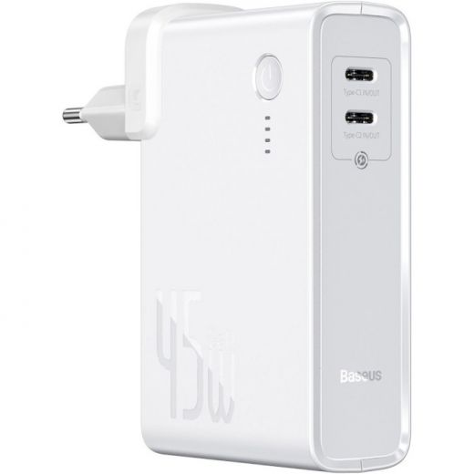 Зарядное устройство Baseus Power Station 2-in-1 White 10000mAh (PPNLD-F02)