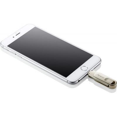 USB флеш накопитель Apacer 64GB AH790 Silver USB 3.1/Lightning (AP64GAH790S-1)