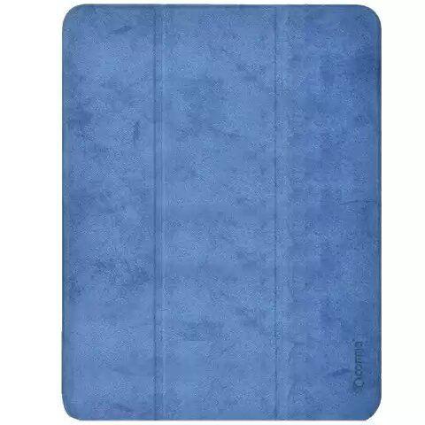 "Чехол Comma Leather Сase with Apple Pencil Slot Blue для iPad 12.9"" (2020)"
