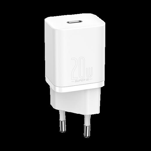 Сетевое зарядное устройство Baseus Super Si Quick Charger 1C 20W White