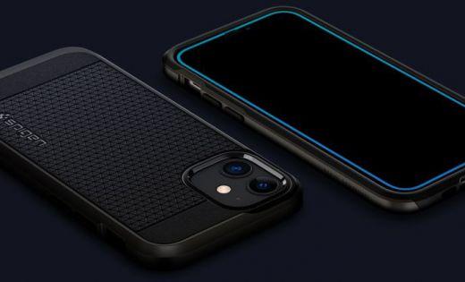 Защитное стекло Spigen Glas.tR AlignMaster 2 Pack Black (AGL01812) для iPhone 12 mini