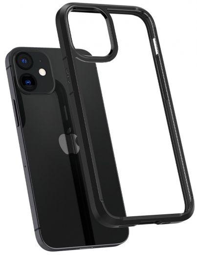 Чехол Spigen Crystal Hybrid Matte Black (ACS01543) для iPhone 12 mini
