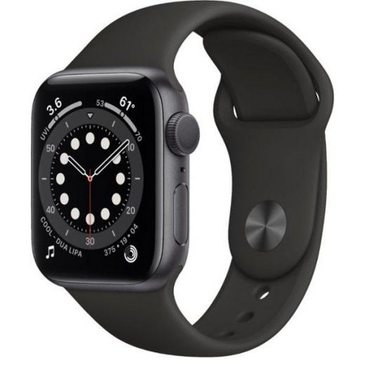 Apple Watch Series 6 GPS 40mm Space Gray Aluminum Case with Black Sport Band (MG133)