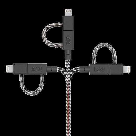 Кабель Native Union Belt Cable Universal Zebra (2 m) (BELT-ULC-ZEB-NP)
