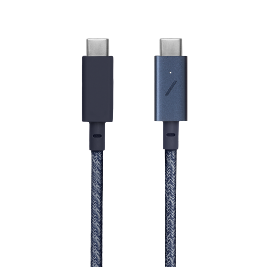 Кабель Native Union Belt Cable USB-C to USB-C Pro Indigo (2.4 m) (BELT-C-IND-PRO-NP)