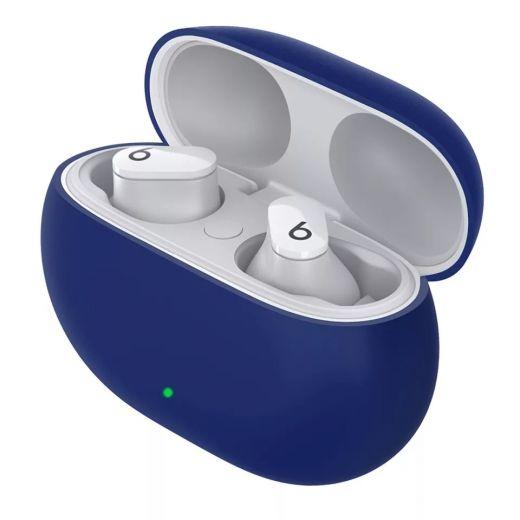 Силиконовый чехол CasePro Silicon Case Navy Blue для Beats Studio Buds 2021