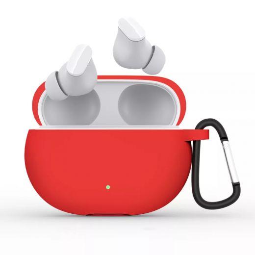 Силиконовый чехол CasePro Silicon Case Red для Beats Studio Buds 2021