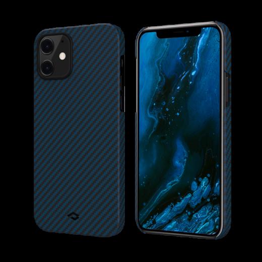 Чехол Pitaka MagEZ Black/Blue (Twill) для iPhone 12 mini