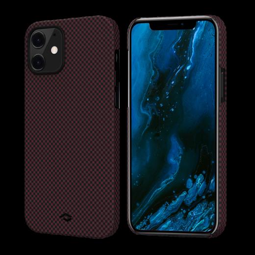 Чехол Pitaka MagEZ Black/Red Plain (KI1204M) для iPhone 12