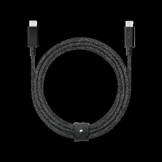 Кабель Native Union Belt Cable USB-C to USB-C Pro Cosmos Black (2.4 m) (BELT-C-CSBK-PRO-NP)