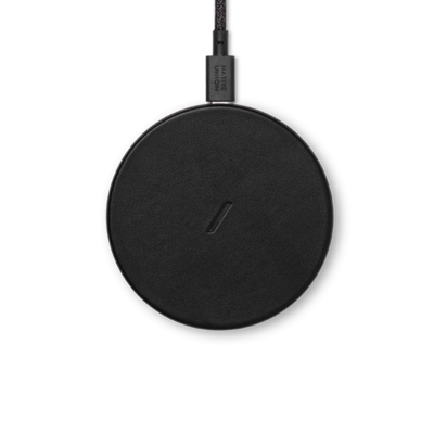 Беспроводное зарядное устройство Native Union Drop Classic Leather Wireless Charger Black (DROP-BLK-CLTHR-NP)