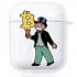 Прозрачный силиконовый чехол Hustle Case Monopoly Ice Cream Clear для AirPods 1 | 2
