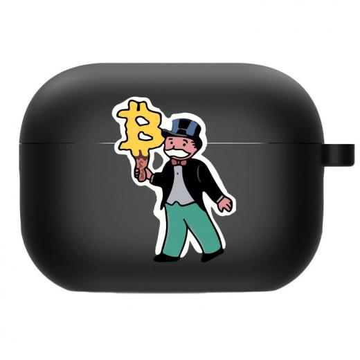 Силиконовый чехол Hustle Case Monopoly Ice Cream Black для AirPods Pro