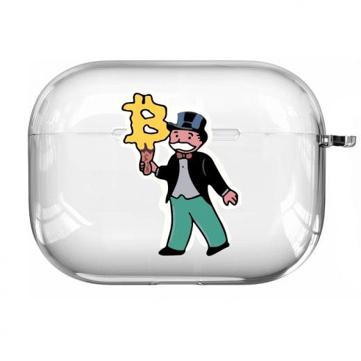 Прозрачный силиконовый чехол Hustle Case Monopoly Ice Cream Clear для AirPods Pro