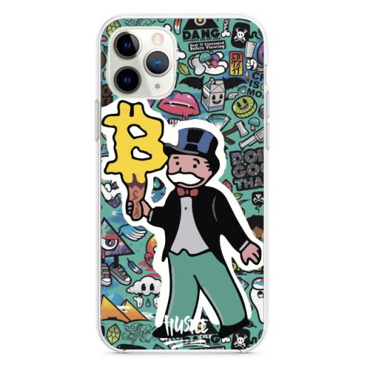 Прозрачный чехол Hustle Case Monopoly Ice Cream Clear для iPhone 12 Pro Max