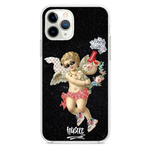 Прозрачный чехол Hustle Case Angel Supreme black Clear для iPhone 12 | 12 Pro