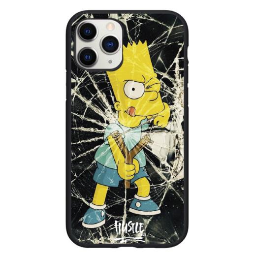 Чехол Hustle Case Simpsons Bart Slingshot Black для iPhone 12 Pro Max