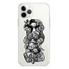 Прозрачный чехол Hustle Case Monopoly Black & White Clear для iPhone 12 | 12 Pro