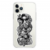 Прозрачный чехол Hustle Case Monopoly Black & White Clear для iPhone 12   12 Pro