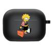 Силиконовый чехол Hustle Case Simpsons Lisa Simpson Black для AirPods Pro