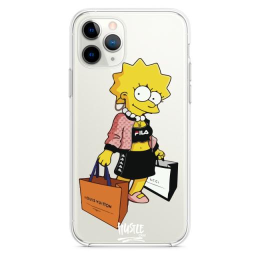 Прозрачный чехол Hustle Case Simpsons Lisa Simpson Clear для iPhone 12 | 12 Pro