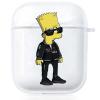Прозрачный силиконовый чехол Hustle Case Simpsons Bart Simpson Clear для AirPods 1 | 2