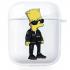 Прозрачный силиконовый чехол Hustle Case Simpsons Bart Simpson Clear для AirPods 1   2