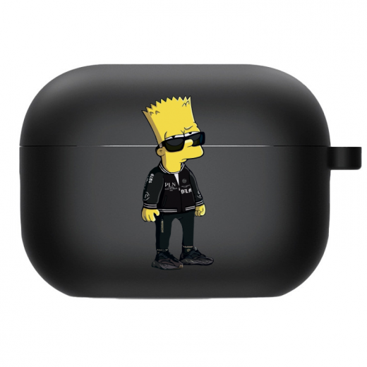Силиконовый чехол Hustle Case Simpsons Bart Simpson Black для AirPods Pro