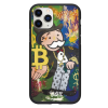 Чехол Hustle Case Monopoly Bitcoin Black для iPhone 12   12 Pro