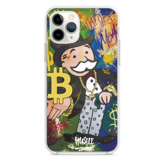 Прозрачный чехол Hustle Case Monopoly Bitcoin Clear для iPhone 12   12 Pro