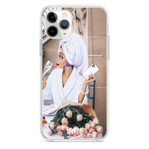 Прозрачный чехол Hustle Case Girlfriend 1 Clear для iPhone 12 | 12 Pro