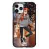 Чехол Hustle Case Girl New Year Black для iPhone 12 | 12 Pro