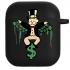 Силиконовый чехол Hustle Case Monopoly Dollar Black для AirPods 1 | 2