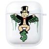 Прозрачный силиконовый чехол Hustle Case Monopoly Dollar Clear для AirPods 1 | 2