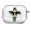 Прозрачный силиконовый чехол Hustle Case Monopoly Dollar Clear для AirPods Pro