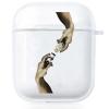 Прозрачный силиконовый чехол Hustle Case Hands Time=Money Clear для AirPods 1 | 2
