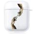 Прозрачный силиконовый чехол Hustle Case Hands Time=Money Clear для AirPods 1   2